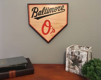 Baseball Sign-Baltimore Orioles-Engraved-Sports Sign-Baltimore-Orioles Baseball Sign-Homeplate