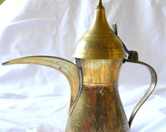 Coffee Pot | Brass Aladdin Oil Lamp (2)