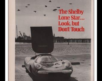 "Vintage Print Ad 1960s : Shelby Lone Star Automobile Car Wall Art Decor 8.5"" x 11"" each Advertisement"