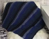 Knit cat blanket / knit blanket / cat blanket / dog blanket / gift for cat / gift for dog / gift for cat lover / new pet gift / blue blanket