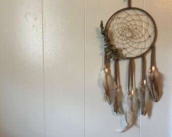 Crystal and Eucalyptus Dreamcatcher