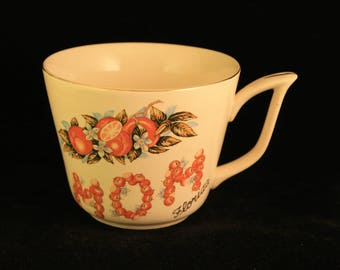 Vintage Florida Mom Mug Cup Oranges
