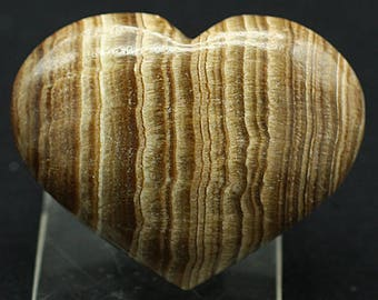 Aragonite Heart, Morocco - Mineral Specimen for Sale