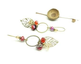 Art deco earrings ~; ~ Bouquet of poppies. ~ ~