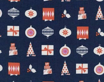 Noel by Cotton + Steel - Wrapped Up Navy - Cotton Woven Fabric