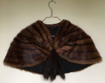 Vintage mink stole / shaw / mink / 1950 / retro / fur
