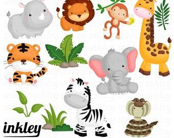 Jungle Animal Clipart,Jungle Clip Art, Jungle Animal Png, Animal Clipart, Forest Clipart, Snake Clipart, Digital Clipart, Zebra Clipart