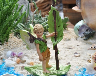 The River Elf for Miniature Garden, Fairy Garden