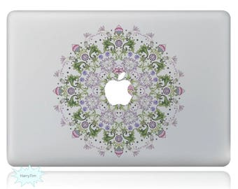 Beautiful Flowers Macbook Decal Mac Stickers Macbook Decals Macbook Stickers Apple Decal Mac Decal Stickers Laptop Decal