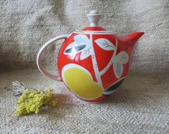 Vintage teapot, Porcelain Teapot, Retro Kitchen Design,Soviet Era, Afternoon Tea, vintage coffee pot, teapot vintage, vintage kitchenware