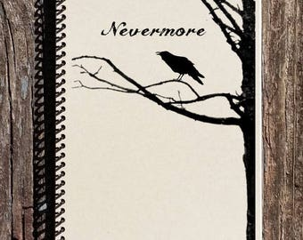 SALE - Edgar Allen Poe Journal - Edgar Allen Poe Notebook - The Raven Nevermore - Literature Notebook