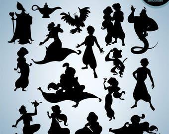 Aladdin and jasmine silhouette wwwpixsharkcom images for Aladdin and jasmine on carpet silhouette