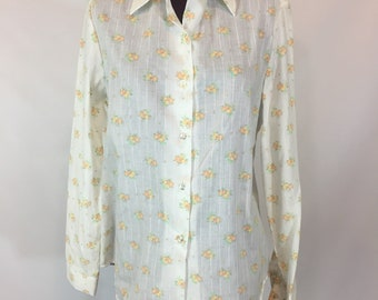 Soft Prarie Country styled Womens M buttondown bluuse