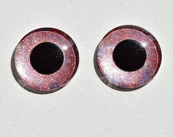 OOAK handpainted custom Blythe shimmering glitter eye chips