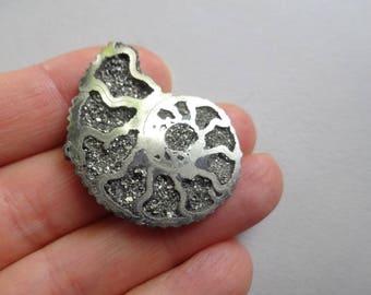 Pyritized Ammonite cabochon 36x27 mm