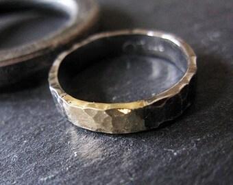 Mens Wedding Bands Mens Wedding Band Mens Wedding Ring Black Gold Ring Rustic Wedding Band Unique Mens Wedding Ring Viking Wedding Ring