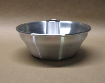 Jello Mold Aluminum Seamless Hand Spun, Handmade, New, Metal Spinning,