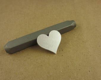 "3/4"" Curvy Heart Aluminum Stamping Blanks, 14 Ga Thick, 1100 Aluminum, 10 Pieces"
