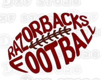 Razorbacks,Arkansas Razorbacks,football,college team SVG,DXF,PNG for use with Silhouette Studio and Cricut Design Space