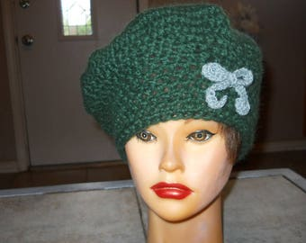 Hand crocheted, Beret/Tam Hat
