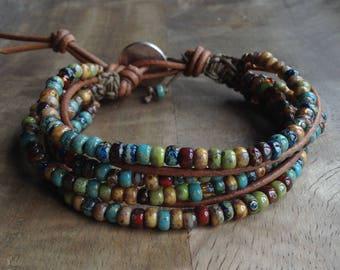Bohemian bracelet boho chic bracelet hippie bracelet bohemian womens jewelry rustic bracelet western bracelet gypsy gift for her earthy