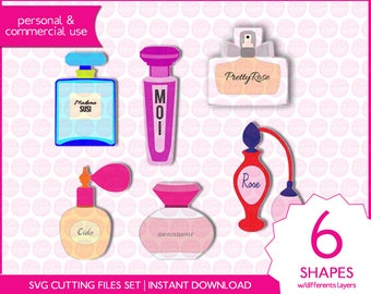 PERFUME SVG digital cutting files for cutting machines
