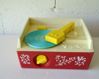 Record player music box Fisher Price vintage, 1971. Vintage Fisher Price - Music Box record player
