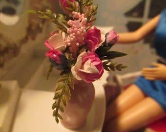Dollhouse Floral arrangement for 1:6 FR, Barbie, Momoko, Blyth Doll Diorama OOAK