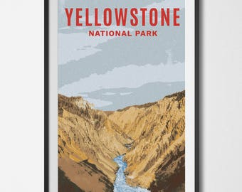 Yellowstone National Park Poster 11x17