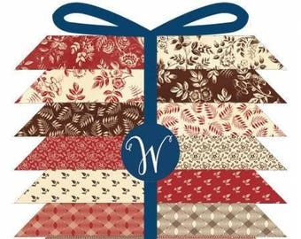 Simply Red Fat Quarter Bundle by Windham Fabrics containing 24 fat quarters