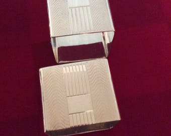 Silver napkin rings by Atkin brothers  Sheffield England 1943