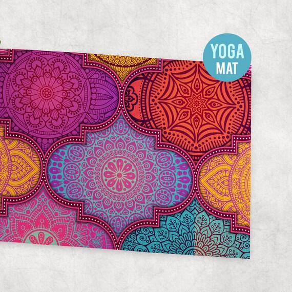 Yoga Mat Batik Pattern - Free Shipping
