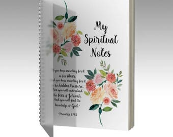 2018 JW Convention Spiral Notebook | Spiritual Notes | JW | Pioneer Gift | JW Gift | Meeting Notebook | Convention Notebook | Floral