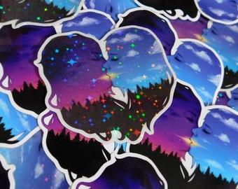 Evening Kiss - Holographic Vinyl Sticker