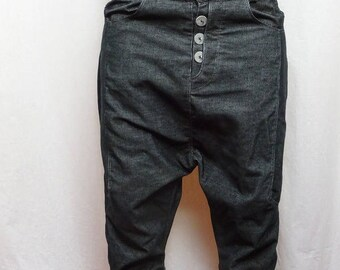 original harem pants with black corduroy multidecoupes