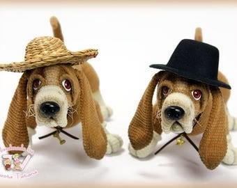 Dog. Basset Hound-23cm.