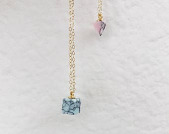 howlite geometric necklace
