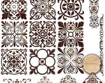 40% OFF SALE Antique Patterns Clip Art , Vintage Ornaments Clip Art Set , Swirls , Curls , Ornaments Clip Art , Decorative Ornaments Buy 2 G
