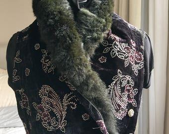 Scarf-recycled Possum Fur collar.