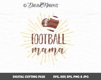 Football Mama SVG, Football Mom SVG, Football Cut File, Sports SVG, Cricut File, Silhouette Cut File, Vinyl Cut Files SVDP503