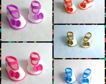 Crochet Sandal, Infant Crochet Booties, Crochet Baby Flip Flops, Boots for babies, Baby shower gift