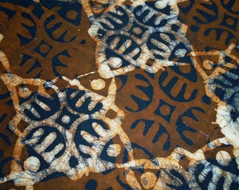 Ghana Hand Dyed Batik, by the half yard
