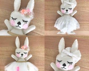 Handmade bespoke sweet face bunnies XO