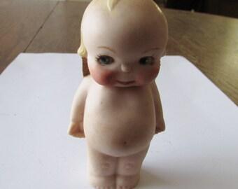 Vintage Bisque Doll Baby Angel Frozen Signed Nita