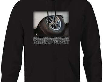 American Muscle Mickey Thompson Racing Tires Muscle Car Hooded Sweatshirt- 5058