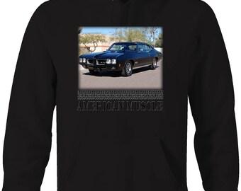 American Muscle Pontiac GTO Goat Classic Hotrod Hooded Sweatshirt- 5433