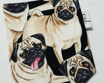 Pattern of pugs - Pug pocket t-shirt unisex pocket T-shirt