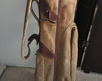 Vintage Kroydon leather golf bag