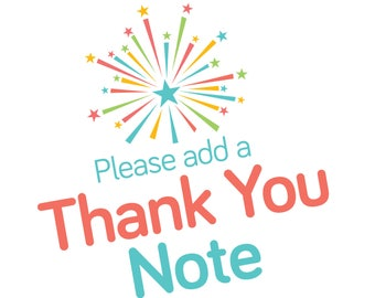 Thank You Note Add-On, Thank You Card