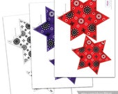 4th of July Banner, Printable 4th of july stars banner, july 4th garland, Printable red white and blue party decorations, Instant download.